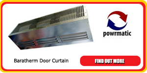 powrmatic baratherm door curtain