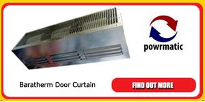 powrmatic baratherm door curtain
